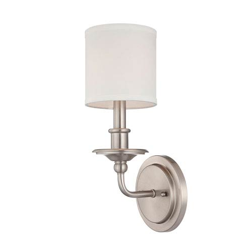 Satin Nickel One Light Wall Sconce