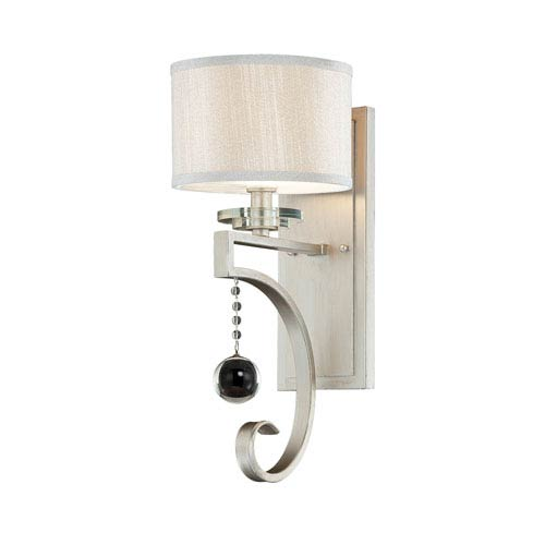 Rosendal Silver Sparkle Wall Sconce
