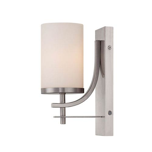 Savoy House Colton Nickel and Pewter One-Light Wall Sconce