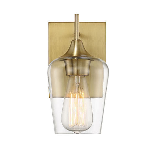Octave Warm Brass One-Light Wall Sconce
