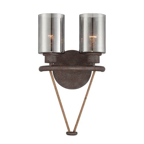 Savoy House Maverick Artisan Rust Two Light Sconce