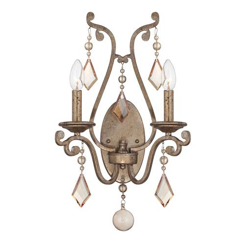 Savoy House Rothchild Oxidized Silver Two Light Sconce