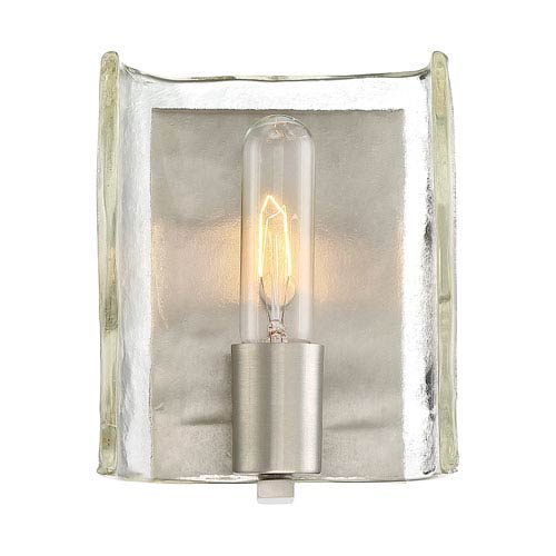 Hande Satin Nickel 6-Inch One-Light Wall Sconce