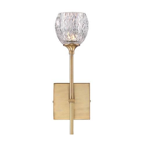 Garla Warm Brass 5-Inch One-Light Wall Sconce