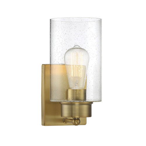 Nicollet Natural Brass Five-Inch One-Light Wall Sconce
