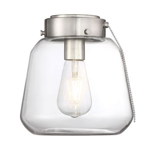 Mclean Satin Nickel One-Light Fan Light Kit