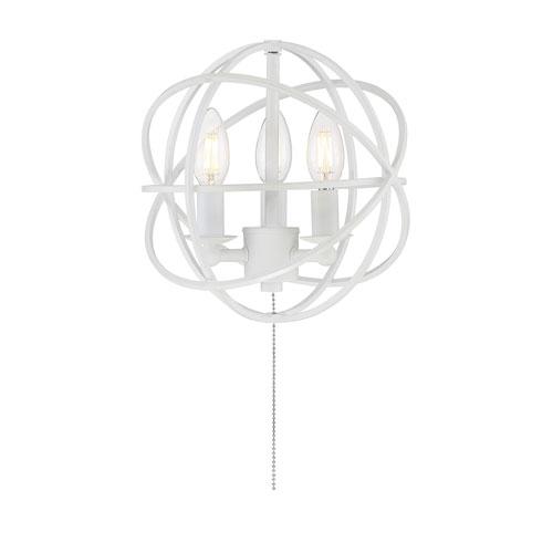 North White Three-Light Fan Light Kit
