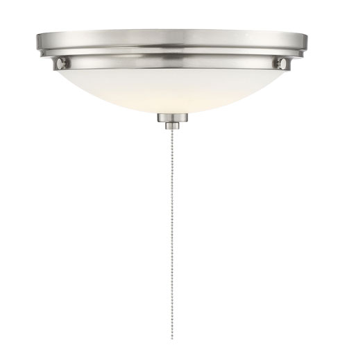 Savoy House Lucerne Satin Nickel One-Light Fan Light Kit
