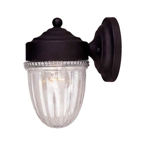 Exterior Collections Textured Black Jelly Jar Wall Mount