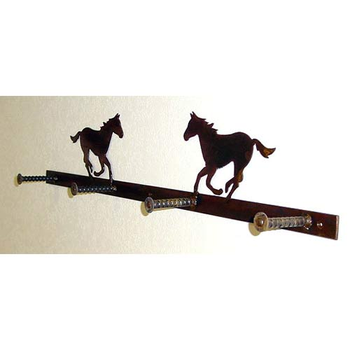 Coat Rack With Horses