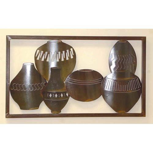 Large Framed Horizontal Wall Pots