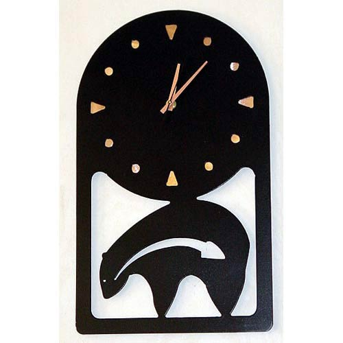 Petroglyph Bear Wall Clock