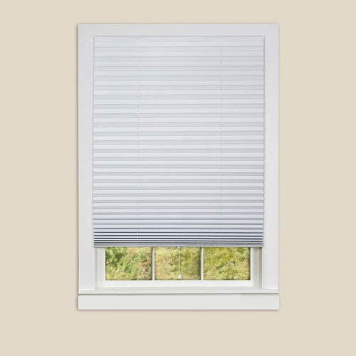 Achim Importing Company 1-2-3 White 75 x 48-Inch Pleated Shades