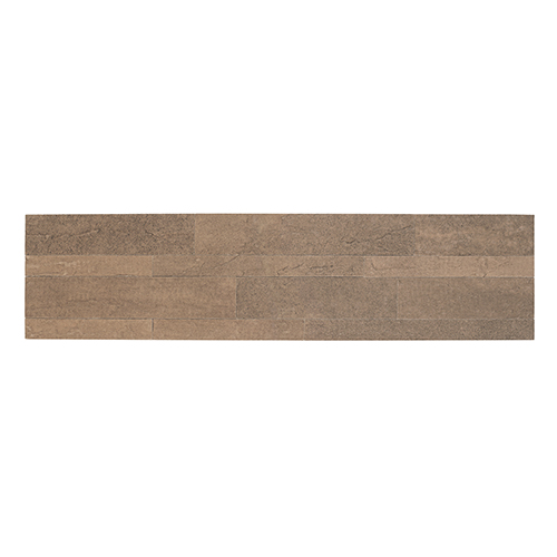 Bolder Stone 6 x 24 In. Mocha Self Adhesive Stone Wall Tile, Set of 6