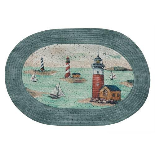 Achim Importing Company Hamptons Multicolor Rectangular: 20 x 30 In. Rug