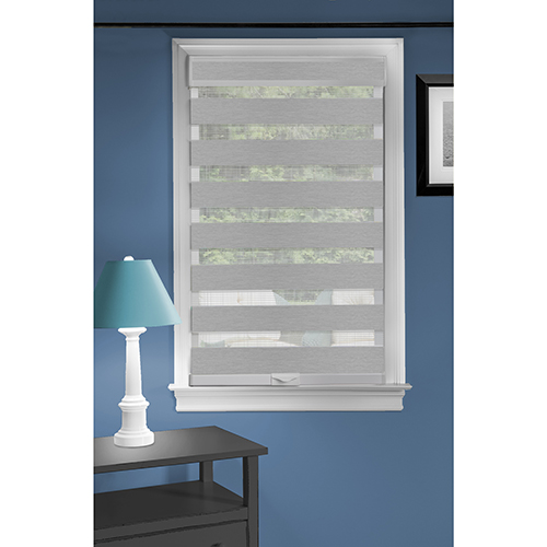 Celestial Grey 72 x 27 In. Cordless Sheer Double Layered Shade