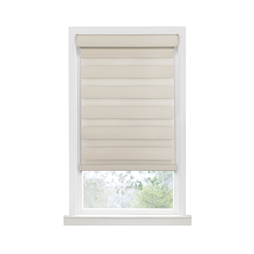 Celestial Tan 72 x 43 In. Cordless Room Darkening Double Layered Shade