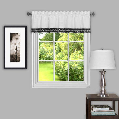 Camden Black and White 58 x 14-Inch Window Tier Pair