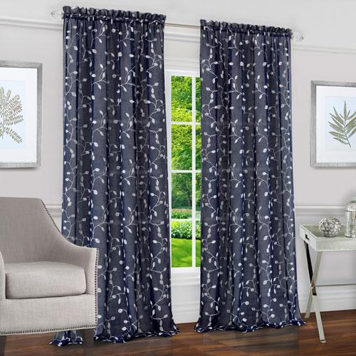 Chloe Navy 63 x 50 In. Window Curtain Panel