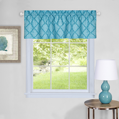 Colby Turquoise 58 x 14 In. Window Valance