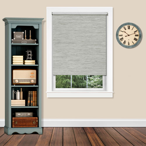 Cordless Privacy Heather Gray 27 x 72  Shade