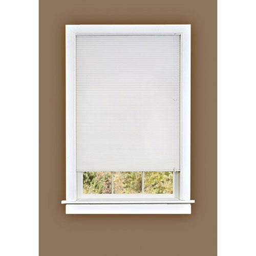 Achim Importing Company Honeycomb Cellular White 64 x 27-Inch Pleated Shade