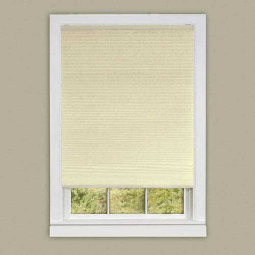 Achim Importing Company Cordless Honeycomb Cellular Pleated Alabaster 64 x 30-Inch Pleated Shade