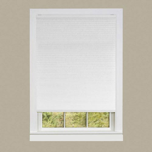 Achim Importing Company Top Down-Bottom Up Cordless Honeycomb Cellular White 64 x 31-Inch Shade