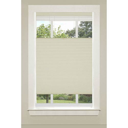 Achim Importing Company Top Down-Bottom Up Cordless Honeycomb Cellular Alabaster 64 x 36-Inch Shade