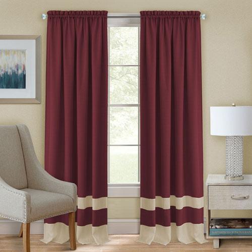 Darcy Marsala and Tan 84 x 52 In. Window Curtain Panel