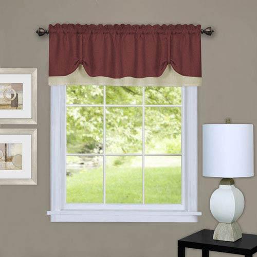 Darcy Marsala and Tan 58 x 14-Inch Window Valance