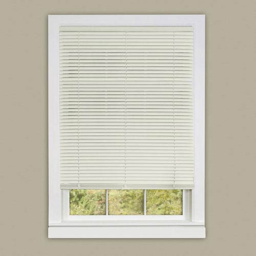 Achim Importing Company Cordless Deluxe Sundown Alabaster 64 x 27-Inch Mini Blind