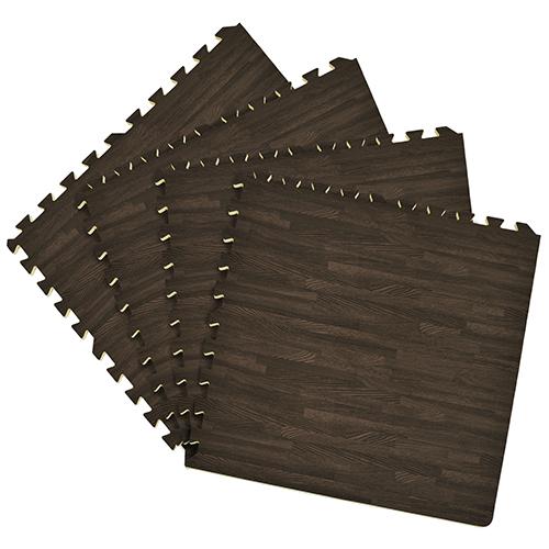 Interlocking Foam Charcoal 24 x 24 In. Anti-Fatigue Floor Tile, Set of 4