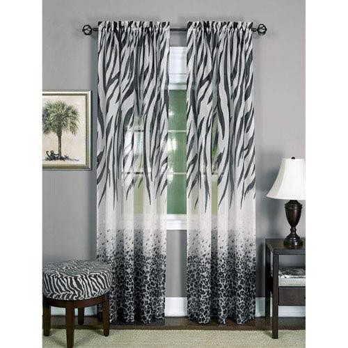 Achim Importing Company Kenya Brown 84 x 50 In. Window Curtain Panel