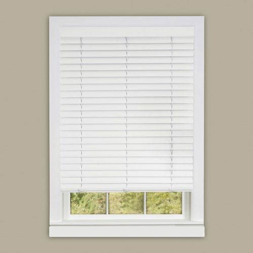 Achim Importing Company Cordless Luna White 64 x 35-Inch Blind