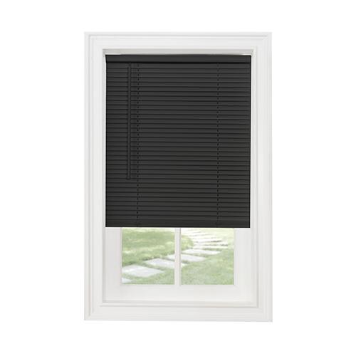 GII Morningstar Black 64 x 35 In. Cordless Mini Blind