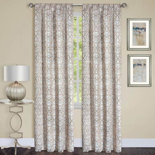 Madison Taupe 84 x 54 In. Window Curtain Panel