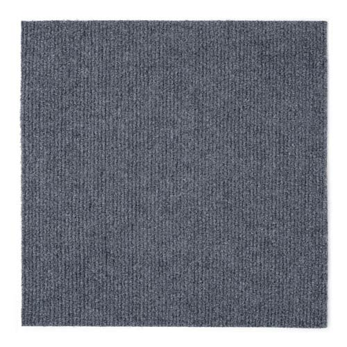 Nexus Gray 12 x 12 In. Self Adhesive Carpet Floor Tiles, Set of Twelve
