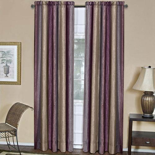 Ombre Aubergine 63 x 50 In. Window Curtain Panel