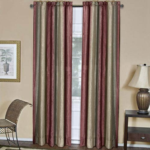 Ombre Burgundy 84 x 50 In. Window Curtain Panel