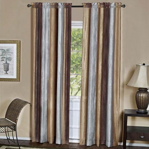 Achim Importing Company Ombre Chocolate 84 x 50 In. Window Curtain Panel