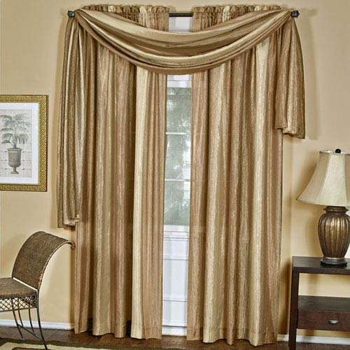 Ombre Sandstone 50 x 144-Inch Window Scarf