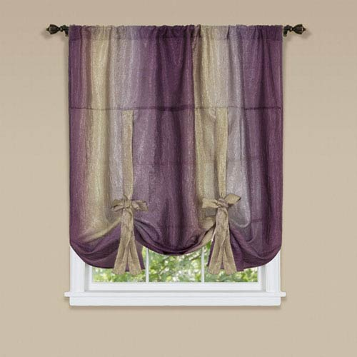 Ombre Aubergine 50 x 63-Inch Tie Up Shade