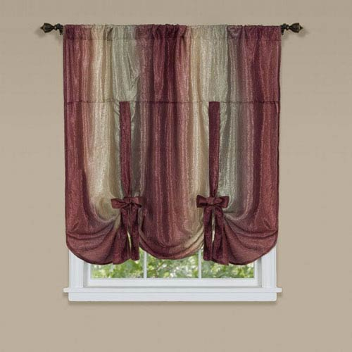 Achim Importing Company Ombre Burgundy 50 x 63-Inch Tie Up Shade
