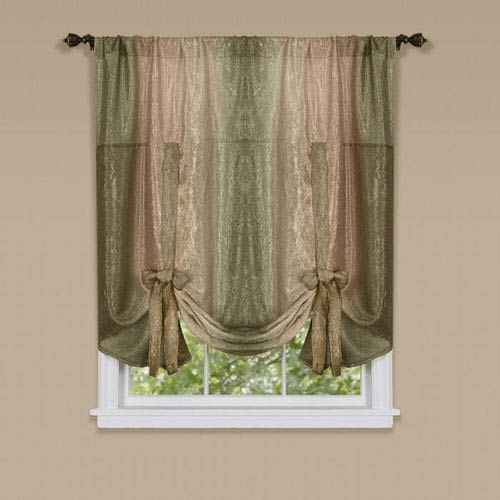 Achim Importing Company Ombre Earth 50 x 63-Inch Tie Up Shade
