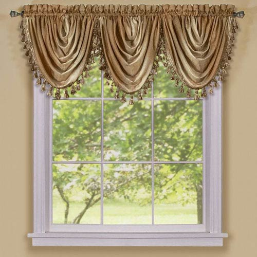 Achim Importing Company Ombre Sandstone Waterfall Valance