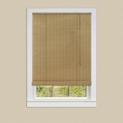 Eclipse Woodtone 72 x 60-Inch Roll-Up Blind