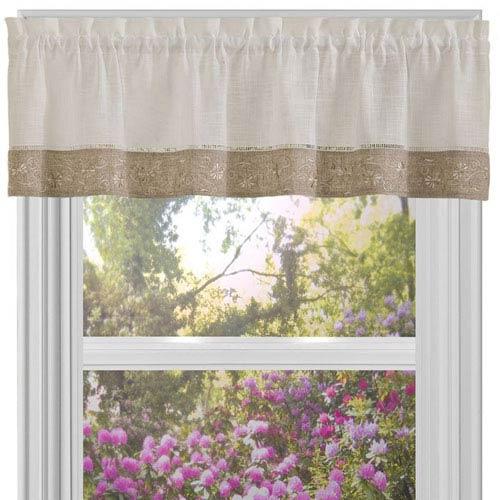 Oakwood Natural 58 x 14-Inch Window Valance