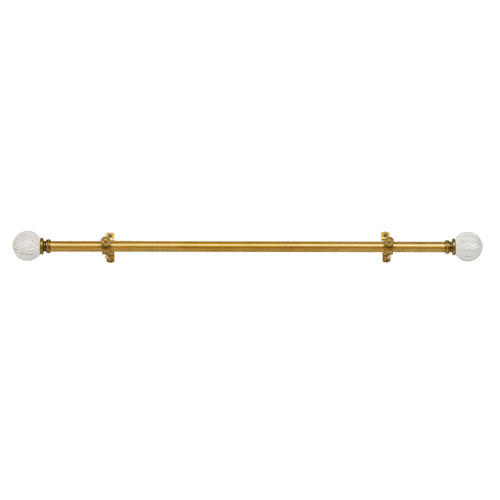 Buono II Decorative Antique Gold 28-48 In. Rod and Finial