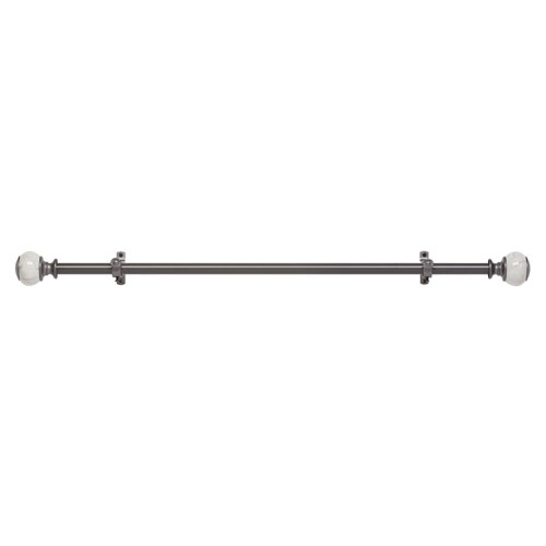Achim Importing Company Camino Decorative Gray 48-86 In. Rod and Finial